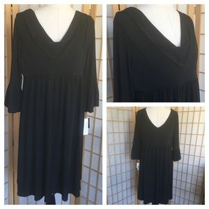 NWT Blu Sage Stretch Knit Black Dress SZ XL